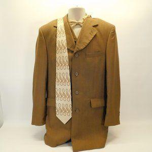 EJ Samuel Brown Jacket/Vest & Ties 40R CL3124 0420